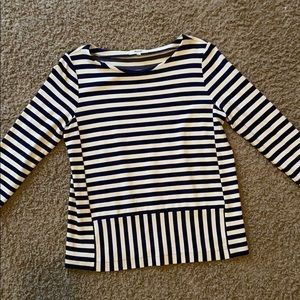 Navy striped Madewell top